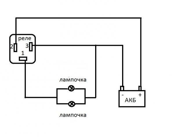 Схема проверки реле поворота.jpg.  Кликните на изображение для увеличения.  17.08 КБ.