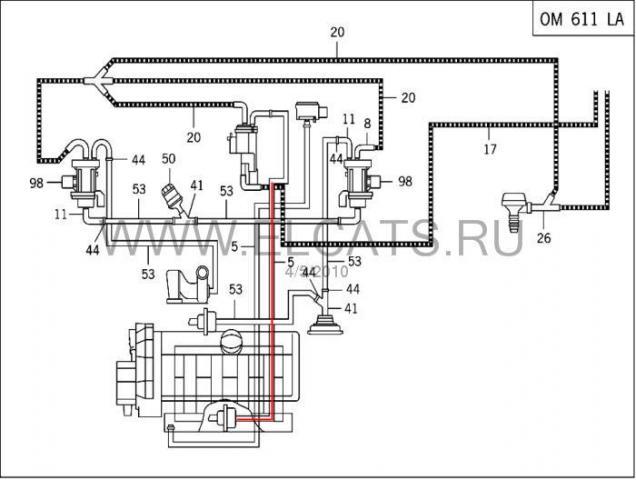 ...два вида вакуумных систем. последователльность подключения вакомных трубок .нужна схема! vito 112 автомат.рукастый...