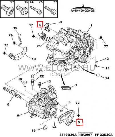 Схема расположения двигателя джампер