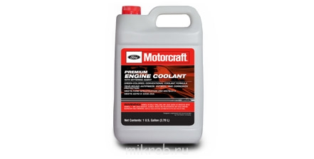 Motorcraft® Specialty Orange Engine Coolant, meeting Ford Specification WSS-M97B44-D, or with any yellow-colored, longer-life coolant, such as Motorcraft® Premium Gold Engine Coolant, meeting Ford Specification WSS-M97B51-A1.jpg