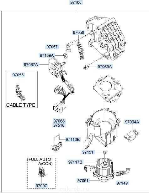 Вентилятор салона на Хендай (Hyundai Libero) 971004A000 Blower unit.