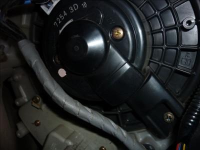 Ремонт электродвигателя печки