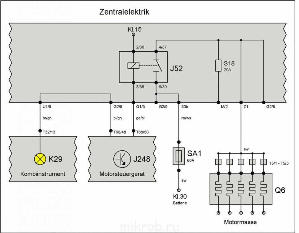Elektrik схема свечей