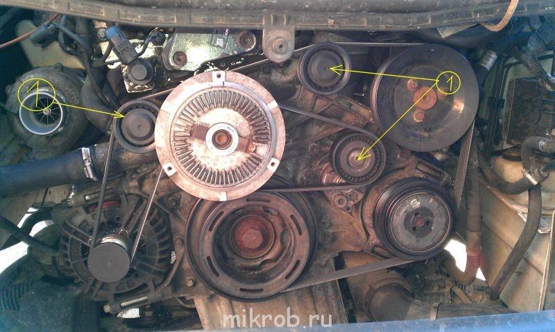 Замена ремня генератора форд транзит дизель, замена ролика и.