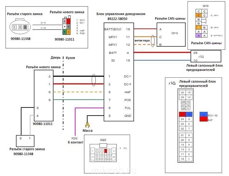 2а) упрощённая схема, в