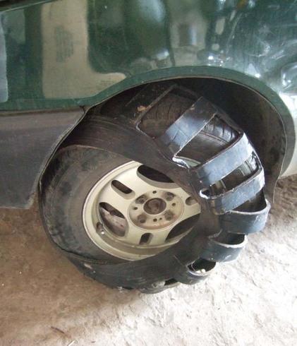 Резиновые цепи на колёса своими руками 57