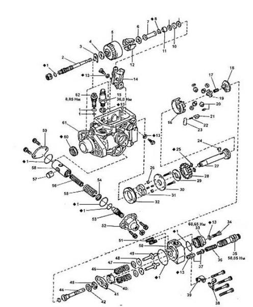 продолжаем тему про ТНВД.  Кольцевая уплотнительная прокладка, 2. вал регулятора, 3. регулировочная шайба шестерни...
