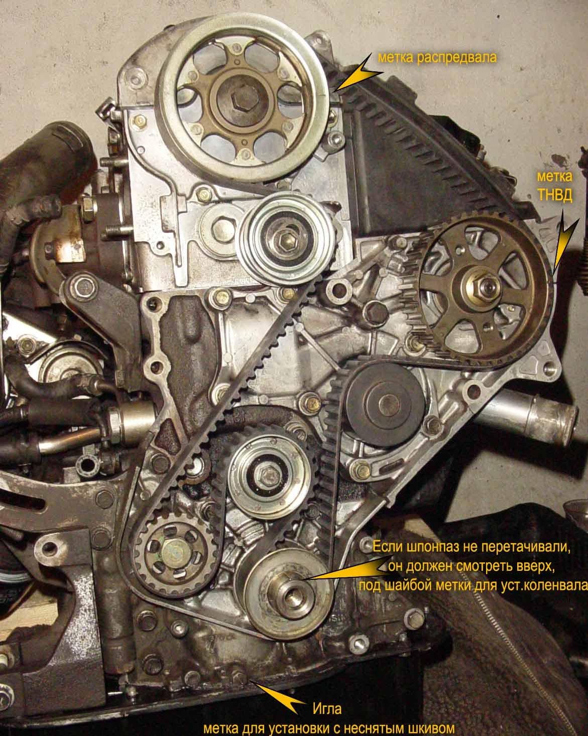 Схема грм дизельного двигателя фото 217