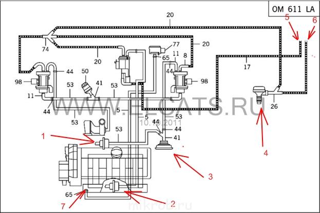 Схема вакуумной системы мерседес фото 474