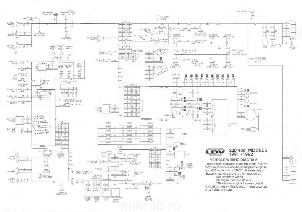 электросхема лдв конвой инструкция