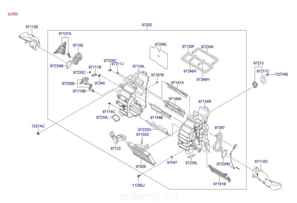 устройство печки hyundai h1