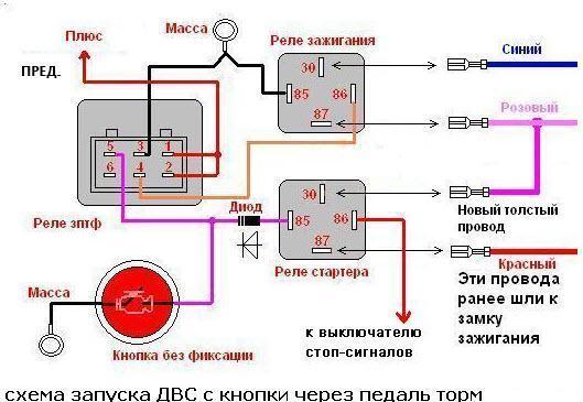 Схема кнопки старт стоп фото 263