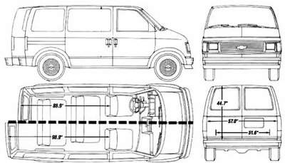 Chevrolet Astro Passenger Van история и характеристики. - chevrolet_astro_1990-05911.jpg