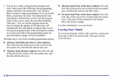 Как отключить запирание дверей при движении? - замки-2.JPG