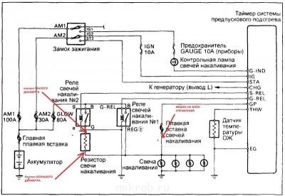 Меняем блок управления свечами накала, на кнопку 2СТ  - Схема без токоизмерительного шунта.jpg