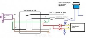 Схема 3. Имеет принудительное включение с реле задержки на помпу на 120 сек. и режим отключено - image.jpg