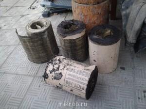 На болгарочку поставил диск и пилы и разрезал рулон рубероида на четыре части - Фото0039.jpg